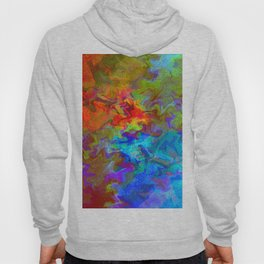 abstract color fusion Hoody