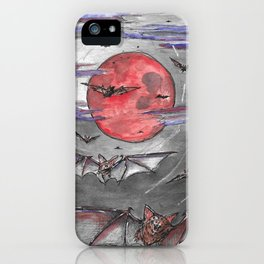 Bat Moon iPhone Case