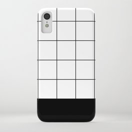 Scandi Grid Sq B iPhone Case