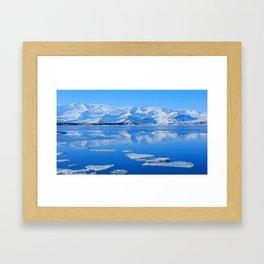 Ice Lake Iceland Framed Art Print