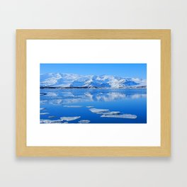 Ice Lake Iceland Framed Art Print