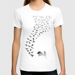 Sheba the Bird Worrier T-shirt