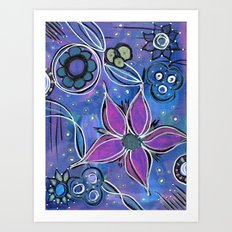 Purple Flowers Background Art Print