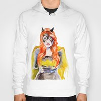 batgirl Hoodies featuring BATGIRL by Clementine Petrova