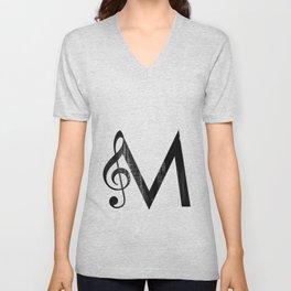 M - Music Unisex V-Neck