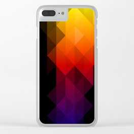 Rainbow Delight Clear iPhone Case