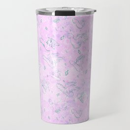 Flying Phallus Print Travel Mug