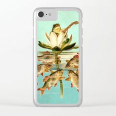 Froggy (Pluck Your Magic Twanger) Clear iPhone Case