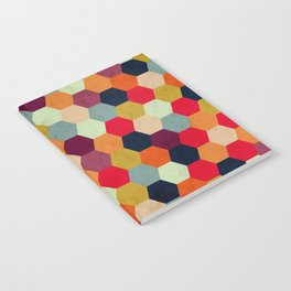 Colorful Beehive Pattern Notebook