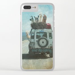 NEVER STOP EXPLORING II SUMMER EDITION Clear iPhone Case