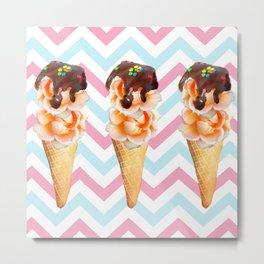 Creamsicle Cones Metal Print