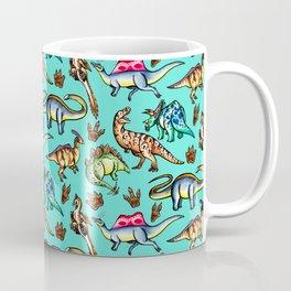 Dinosaur Panic - Blue Coffee Mug