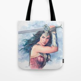 WonderWoman watercolor 2 Tote Bag