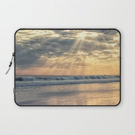 Rays From Above sun rays on Cayucos Beach Laptop Sleeve