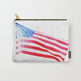 flag on white Carry-All Pouch