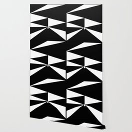 Triangles in Black and White Wallpaper