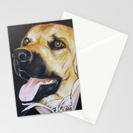 Mans Best Friend - Dog in Suit Stationery Cards