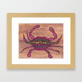 Talking Crab Framed Art Print