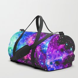 Fox Fur Nebula Galaxy Pink Purple Blue Duffle Bag