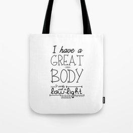 GREAT CAMERA BODY Tote Bag