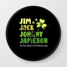 St Patricks Day, St Patricks Day lucky charms, pot Wall Clock