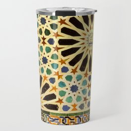 """Mexuar room"". Details in The Alhambra Palace.  Travel Mug"