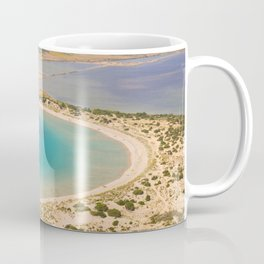 Beautiful lagoon of Voidokilia from a high point of view, Messenia, Greece Coffee Mug