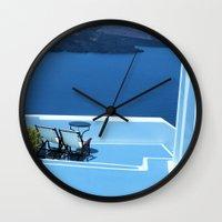 greek Wall Clocks featuring Greek Holiday by Brian Raggatt