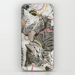 cats gold and rose iPhone Skin