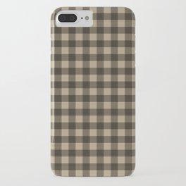 Plaid (brown/beige) iPhone Case
