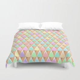 Spring Pastel Ice Cream Pattern Duvet Cover