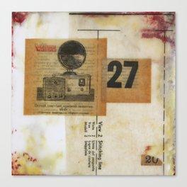 Twenty Seven Canvas Print