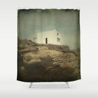 hamlet Shower Curtains featuring Once Upon a Time a Lonely House by Victoria Herrera