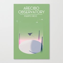Arecibo Observatory space art Canvas Print