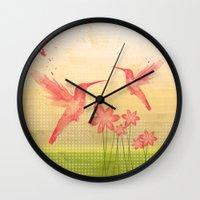 hummingbird Wall Clocks featuring Hummingbird by Kakel