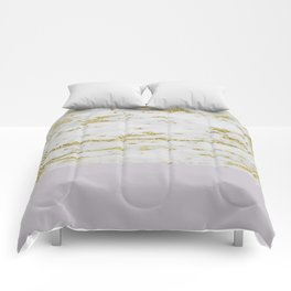 Gold faraldi and smokey lilac marble Comforters