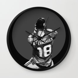 Bruno Fernandes on Black and White Color Wall Clock
