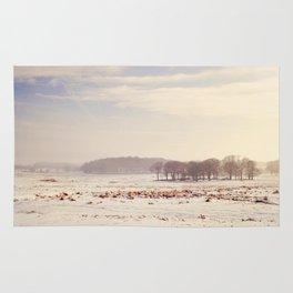Snowy valley. Rug