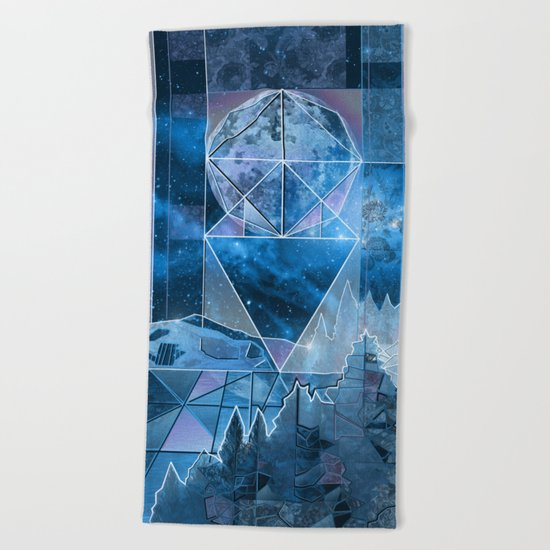 night forest 2 Beach Towel