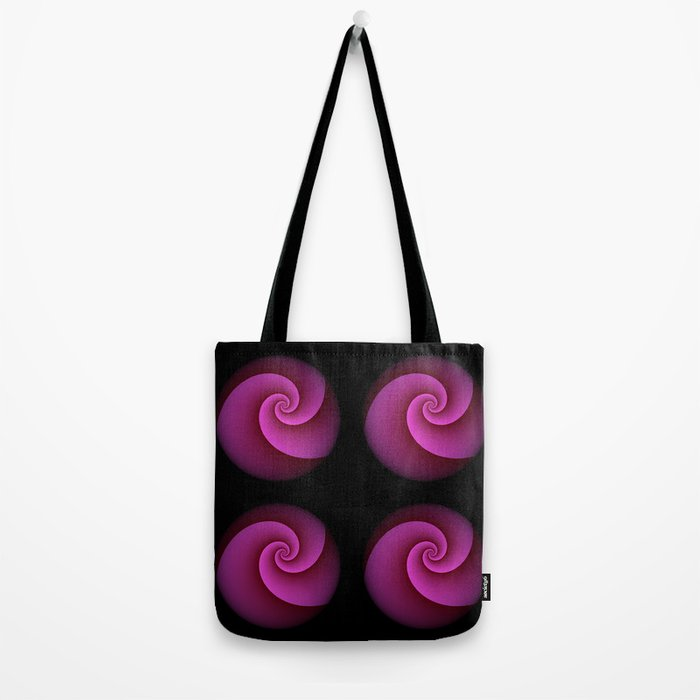 Fancy Pink Abstract Spiral Swirl Tote Bag