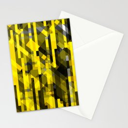 abstract composition in yellow and grays Stationery Cards