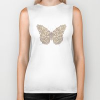 butterfly Biker Tanks featuring Butterfly by Mike Koubou
