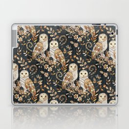 Wooden Wonderland Barn Owl Collage Laptop & iPad Skin