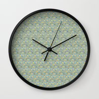pasta Wall Clocks featuring pasta  by Jen Gottlieb
