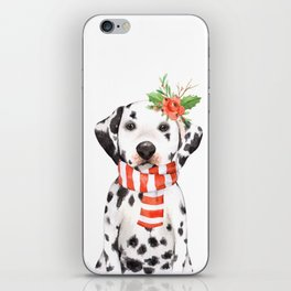 Adorable Holiday Dalmatian Puppy iPhone Skin
