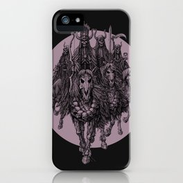 """""""The four horsemen of the apocalipse"""" iPhone Case"""