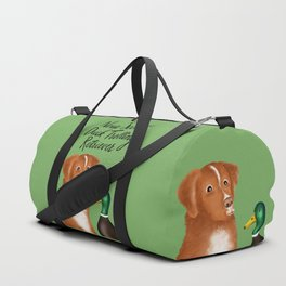 Nova Scotia Duck Trolling Retriever (Green) Duffle Bag
