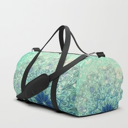 Mandala in Sea Green and Blue Duffle Bag