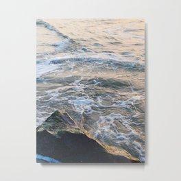 Waves crashing on rock   Annapolis, MD Metal Print