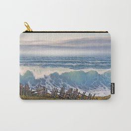 BIG WAVE OCEAN IN MOTION SEASCAPE VINTAGE OIL PAINTING Carry-All Pouch
